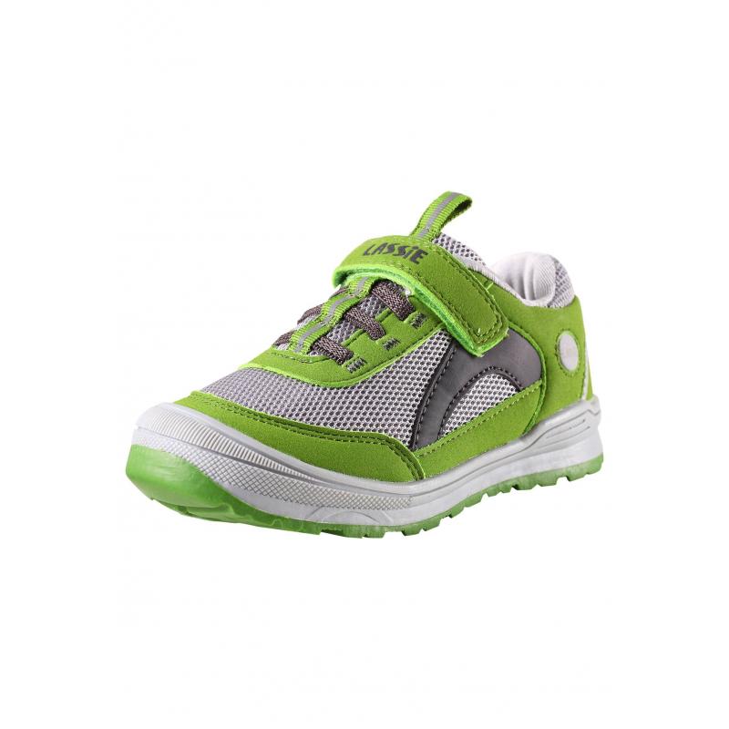 КроссовкиКроссовкисветло-зеленогоцвета марки LASSIE by REIMA.Кроссовки выполнены из дыщащего, прочного и водоотталкивающегоматериала. Резиновая термопластичная подошва не скользит. Кроссовки имеют удобнуюзастежку-липучку. Светоотражающие детали обеспечивают безопасность в темное время суток.<br><br>Размер: 33<br>Цвет: Зеленый<br>Пол: Не указан<br>Артикул: 638437<br>Страна производитель: Китай<br>Сезон: Весна/Лето<br>Материал верха: Полиэстер, Полиуретан<br>Материал подошвы: ЭВА (каучук) / Резина<br>Коллекция: 2016<br>Бренд: Финляндия<br>Тип: Лето