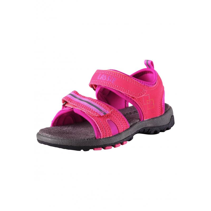 СандалииОткрытые сандалии розовогоцвета марки LASSIE by REIMA для девочек. Сандалии выполнены излегкого материала,подошва из термопластичнойрезиныне скользит. Сандалииимеют удобные застежки-липучки. Светоотражающие детали обеспечивают безопасность в темное время суток.<br><br>Размер: 26<br>Цвет: Розовый<br>Пол: Для девочки<br>Артикул: 638455<br>Бренд: Финляндия<br>Страна производитель: Китай<br>Сезон: Весна/Лето<br>Материал верха: Полиуретан<br>Материал подошвы: ТПР (термопластичная резина)<br>Коллекция: 2016<br>Тип: Лето