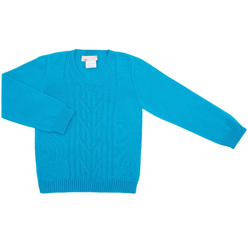 КофтаКофта бирюзовогоцвета марки R&amp;I для мальчиков.<br>Сделанная из натуральной шерсти мериноса, она обеспечивает идеальный теплообмен, благодаря чему ребенок не перегреется и не переохладится.Стильная и теплая кофта с V-образным вырезом создана для того, чтобы малыш даже в холода отлично выглядел и чувствовал себя комфортно.<br>Модельсмотрится нарядно благодаря интересной вязке. Помимо этого уход за изделиемне вызывает затруднений.<br>Состав: 100% шерсть тонкорунного мериноса.<br><br>Размер: 6 лет<br>Цвет: Бирюзовый<br>Рост: 116<br>Пол: Для мальчика<br>Артикул: 637923<br>Страна производитель: Киргизия<br>Сезон: Осень/Зима<br>Состав: 100% Шерсть<br>Бренд: Киргизия