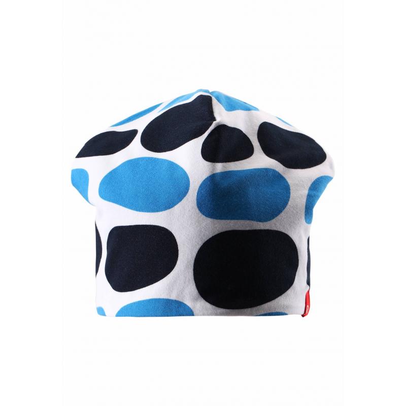 ШапкаЛегкая двусторонняя шапка маркиREIMA для мальчиков. Демисезонная шапка выполнена из мягкого трикотажа на основе хлопка, дополнена подкладкой. Шапка украшена рисунком в горошек голубогои черного цвета, с другой стороны шапка однотонная голубогоцвета.<br><br>Размер: 12 месяцев<br>Цвет: Голубой<br>Размер: 46<br>Пол: Для мальчика<br>Артикул: 638067<br>Страна производитель: Китай<br>Сезон: Весна/Лето<br>Коллекция: 2016<br>Состав: 65% Хлопок, 30% Полиэстер, 5% Эластан<br>Состав подкладки: 65% Хлопок, 30% Полиэстер, 5% Эластан<br>Бренд: Финляндия<br>Тип: Демисезон<br>Серия: Reima