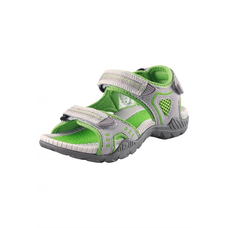 СандалииОткрытые сандалиисветло-зеленогоцвета марки REIMA. Сандалии выполнены излегкого материала,подошва из термопластичнойрезиныне скользит. Благодаря двум застежкам-липучкам спереди и сзади сандалии превосходно сидят на ножке.Светоотражающие детали обеспечивают безопасность в темное время суток.<br><br>Размер: 28<br>Цвет: Зеленый<br>Пол: Не указан<br>Артикул: 638213<br>Страна производитель: Китай<br>Сезон: Весна/Лето<br>Материал верха: Полиэстер, Полиуретан<br>Материал подошвы: ТПР (термопластичная резина)<br>Коллекция: 2016<br>Бренд: Финляндия<br>Тип: Лето