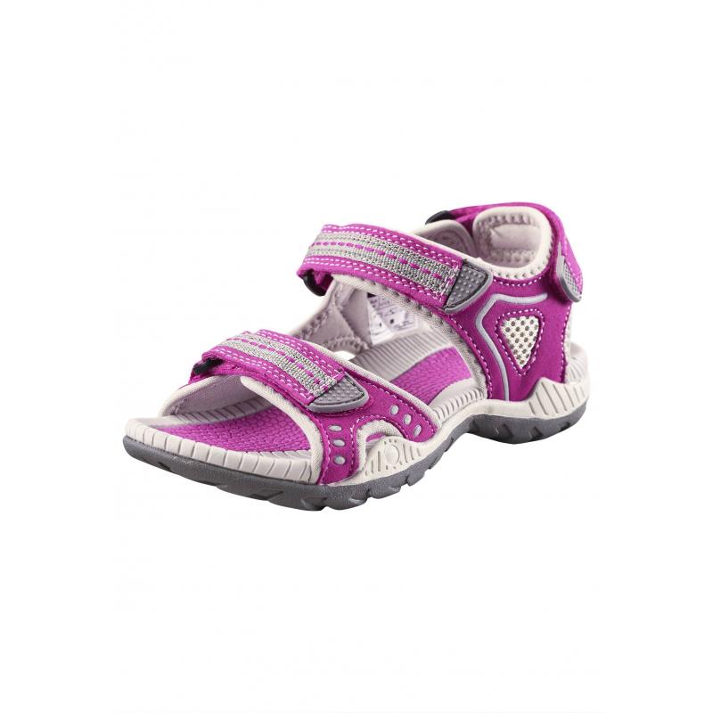 СандалииОткрытые сандалии малиновогоцвета марки REIMA для девочек. Сандалии выполнены излегкого материала,подошва из термопластичнойрезиныне скользит. Благодаря двум застежкам-липучкам спереди и сзади сандалии превосходно сидят на ножке.Светоотражающие детали обеспечивают безопасность в темное время суток.<br><br>Размер: 37<br>Цвет: Малиновый<br>Пол: Для девочки<br>Артикул: 638233<br>Страна производитель: Китай<br>Сезон: Весна/Лето<br>Материал верха: Полиэстер, Полиуретан<br>Материал подошвы: ТПР (термопластичная резина)<br>Коллекция: 2016<br>Бренд: Финляндия<br>Тип: Лето