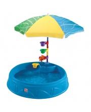 Бассейн для малышей с зонтиком STEP 2