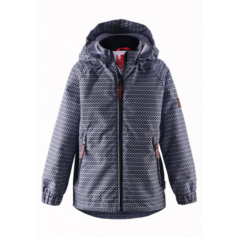 КурткаЛегкая демисезонная куртка темно-синего цвета марки REIMA. Легкая куртка без утепления выполнена из водонепроницаемого материала с мембраной свыше 10000 мм, материал дышит, обеспечивая сухость и комфорт.Основныешвы проклеены и не пропускают влагу. Куртка имеет съемный капюшон на кнопках, дополнена двумя карманами на молнии спереди. Внутри куртка дополнена подкладкой из дышащей сетки, воротник и манжеты изнутри имеют мягкую флисовую подкладку.Низ куртки регулируется с помощью шнурка со стопперами. Светоотражающие элементы на куртке обеспечивают безопасность ребенка в темное время суток.<br><br>Размер: 7 лет<br>Цвет: Темносиний<br>Рост: 122<br>Пол: Не указан<br>Артикул: 638031<br>Страна производитель: Китай<br>Сезон: Весна/Лето<br>Коллекция: 2016<br>Состав: 100% Полиэстер<br>Состав подкладки: 100% Полиэстер<br>Бренд: Финляндия<br>Вид застежки: Молния<br>Покрытие: Полиуретан<br>Тип: Демисезон<br>Серия: Reima