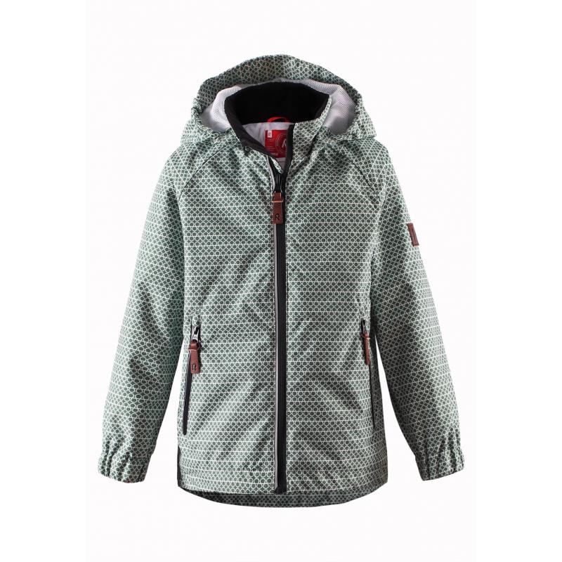 КурткаЛегкая демисезонная куртка зеленогоцвета марки REIMA. Легкая куртка без утепления выполнена из водонепроницаемого материала с мембраной свыше 10000 мм, материал дышит, обеспечивая сухость и комфорт.Основныешвы проклеены и не пропускают влагу. Куртка имеет съемный капюшон на кнопках, дополнена двумя карманами на молнии спереди. Внутри куртка дополнена подкладкой из дышащей сетки, воротник и манжеты изнутри имеют мягкую флисовую подкладку.Низ куртки регулируется с помощью шнурка со стопперами. Светоотражающие элементы на куртке обеспечивают безопасность ребенка в темное время суток.<br><br>Размер: 5 лет<br>Цвет: Зеленый<br>Рост: 110<br>Пол: Не указан<br>Артикул: 638037<br>Страна производитель: Китай<br>Сезон: Весна/Лето<br>Коллекция: 2016<br>Состав: 100% Полиэстер<br>Состав подкладки: 100% Полиэстер<br>Бренд: Финляндия<br>Вид застежки: Молния<br>Покрытие: Полиуретан<br>Тип: Демисезон<br>Серия: Reima