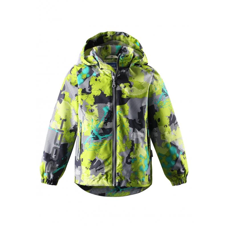 КурткаЛегкая демисезонная куртка светло-зеленогоцвета с рисунком марки LASSIE by REIMAдля мальчиков.Легкая куртка без утепления выполнена из водоотталкивающего, ветронепроницаемого материала; материал дышит, обеспечивая сухость и комфорт. Куртка имеет съемный капюшон на кнопках, дополнена двумя карманами на липучкахспереди. Внутри куртка дополнена подкладкой из дышащей сетки. Светоотражающие элементы на куртке обеспечивают безопасность ребенка в темное время суток.<br><br>Размер: 4 года<br>Цвет: Зеленый<br>Рост: 104<br>Пол: Для мальчика<br>Артикул: 638294<br>Страна производитель: Китай<br>Сезон: Весна/Лето<br>Коллекция: 2016<br>Состав: 100% Полиэстер<br>Состав подкладки: 100% Полиэстер<br>Бренд: Финляндия<br>Вид застежки: Молния<br>Покрытие: Полиуретан<br>Тип: Демисезон