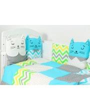 Комплект в кроватку 6 предметов Китти