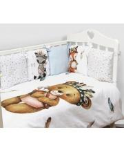 Комплект в кроватку 6 предметов Охотники