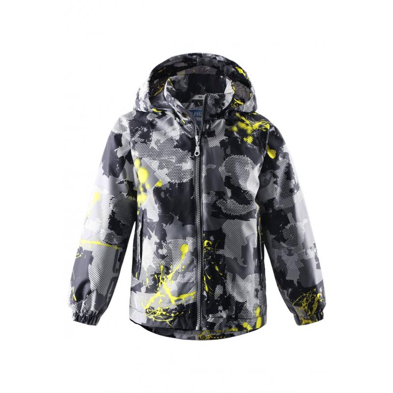 КурткаЛегкая демисезонная куртка серо-черногоцвета с рисунком марки LASSIE by REIMAдля мальчиков.Легкая куртка без утепления выполнена из водоотталкивающего, ветронепроницаемого материала; материал дышит, обеспечивая сухость и комфорт. Куртка имеет съемный капюшон на кнопках, дополнена двумя карманами на липучкахспереди. Внутри куртка дополнена подкладкой из дышащей сетки. Светоотражающие элементы на куртке обеспечивают безопасность ребенка в темное время суток.<br><br>Размер: 8 лет<br>Цвет: Черный<br>Рост: 128<br>Пол: Для мальчика<br>Артикул: 638305<br>Страна производитель: Китай<br>Сезон: Весна/Лето<br>Коллекция: 2016<br>Состав: 100% Полиэстер<br>Состав подкладки: 100% Полиэстер<br>Бренд: Финляндия<br>Вид застежки: Молния<br>Покрытие: Полиуретан<br>Тип: Демисезон