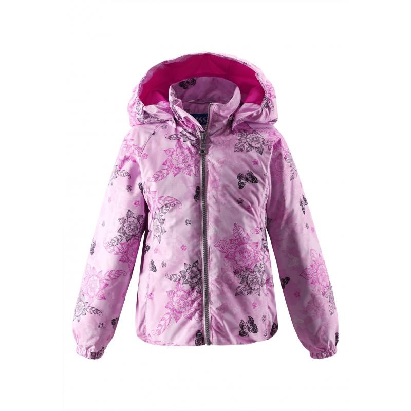 КурткаДемисезонная курткарозовогоцвета с рисунком марки LASSIE by REIMA для девочек. Куртка с легким утеплением выполнена из водоотталкивающего ветронепроницаемого материала, материал дышит, обеспечивая сухость и комфорт. Куртка имеет съемный капюшон на кнопках, дополнена двумя карманами спереди. Внутри куртка дополнена гладкой подкладкой, манжеты на резинке.Низ куртки также на резинке. Светоотражающие элементы на куртке обеспечивают безопасность ребенка в темное время суток.<br><br>Размер: 6 лет<br>Цвет: Розовый<br>Рост: 116<br>Пол: Для девочки<br>Артикул: 638275<br>Страна производитель: Китай<br>Сезон: Весна/Лето<br>Коллекция: 2016<br>Состав: 100% Полиэстер<br>Состав подкладки: 100% Полиэстер<br>Бренд: Финляндия<br>Вид застежки: Молния<br>Наполнитель: 100% Полиэстер<br>Покрытие: Полиуретан<br>Вес утеплителя: 80 г<br>Тип: Демисезон