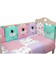 Комплект в кроватку 6 предметов Балерина