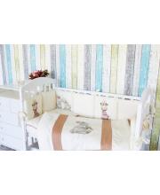 Комплект в кроватку 6 предметов Зайка-Акварель