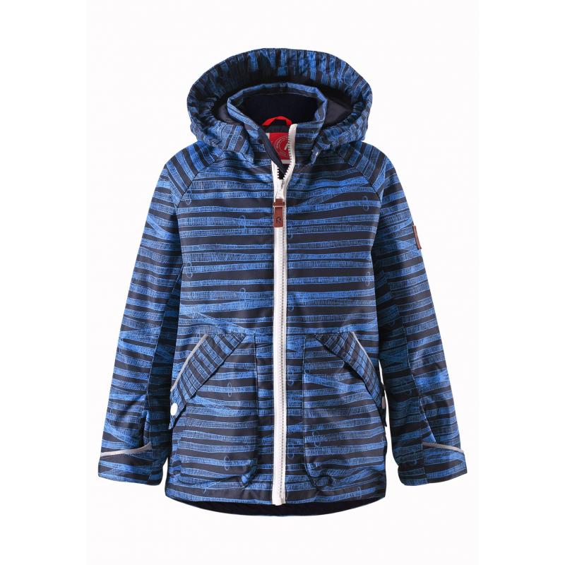 КурткаЛегкая демисезонная куртка темно-синегоцвета с рисунком марки REIMA длямальчиков.Легкая куртка без утепления выполнена из водонепроницаемого материала с мембраной свыше 10000 мм, материал дышит, обеспечивая сухость и комфорт.Основныешвы проклеены и не пропускают влагу. Куртка имеет съемный капюшон на кнопках, дополнена двумя карманами накнопкахспереди. Внутри куртка дополнена подкладкой, воротник и манжеты изнутри имеют мягкую флисовую подкладку. Манжеты регулируются с помощью липучек. Застегивается куртка на молнию. Светоотражающие элементы на куртке обеспечивают безопасность ребенка в темное время суток.<br><br>Размер: 5 лет<br>Цвет: Темносиний<br>Рост: 110<br>Пол: Для мальчика<br>Артикул: 638021<br>Страна производитель: Китай<br>Сезон: Весна/Лето<br>Коллекция: 2016<br>Состав: 100% Полиэстер<br>Состав подкладки: 100% Полиэстер<br>Бренд: Финляндия<br>Покрытие: Полиуретан<br>Тип: Демисезон<br>Серия: Reima