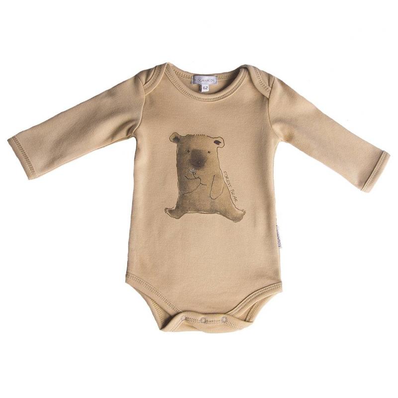 БодиБодикоричневогоцвета маркиKOGANKIDS для малышей.<br>Боди с длиннымрукавом выполнено из чистого хлопка и декорировано изображением милого медвежонка. Застегивается на кнопки по шаговому шву для удобства переодевания малыша.<br><br>Размер: 3 месяца<br>Цвет: Коричневый<br>Рост: 62<br>Пол: Не указан<br>Артикул: 637091<br>Страна производитель: Узбекистан<br>Сезон: Всесезонный<br>Состав: 100% Хлопок<br>Бренд: Россия<br>Вид застежки: Кнопки