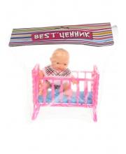 Кукла пупс с кроваткой