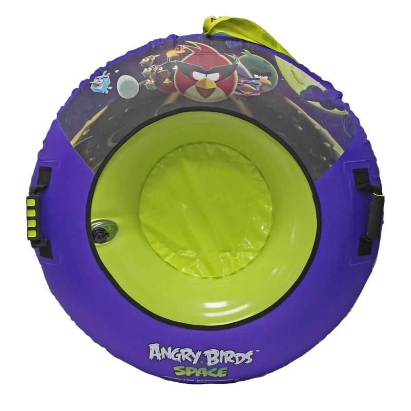 1Toy Тюбинг Angry Birds 92 см санки galaxy мишутка 1 универсал оранжевые