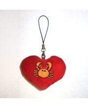 Брелок сердечко зодиак в ассортименте PLUSH APPLE