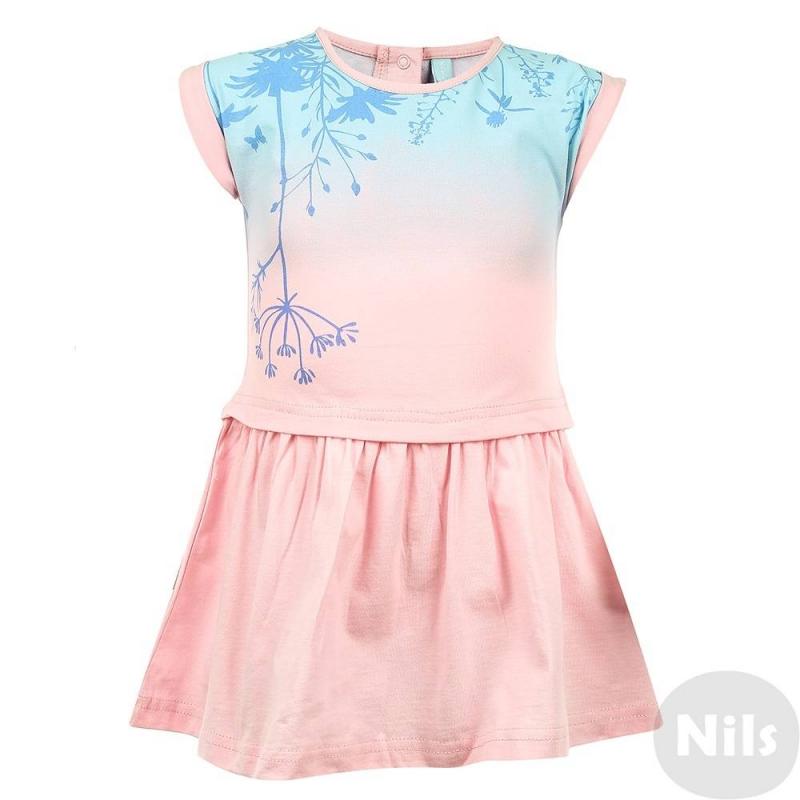 ПлатьеПлатье светло-розовогоцвета марки KOGANKIDS для девочек. Платье с коротким рукавом выполнено из мягкого хлопкового трикотажа, украшено цветочным узором. Застегивается платье на кнопки на спине.<br><br>Размер: 2 года<br>Цвет: Розовый<br>Рост: 92<br>Пол: Для девочки<br>Артикул: 637255<br>Страна производитель: Узбекистан<br>Сезон: Весна/Лето<br>Состав: 100% Хлопок<br>Бренд: Россия<br>Вид застежки: Кнопки