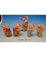 Подставка для зубочисток Мышка в ассортименте S+S Toys