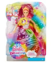 Кукла Радужная принцесса с волшебными волосами Mattel