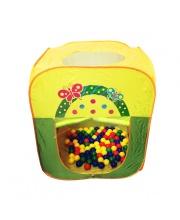 Игровой домик Квадратный + 100 шариков