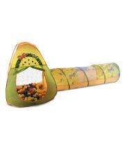 Игровой домик треугольный + туннель + 100 шариков