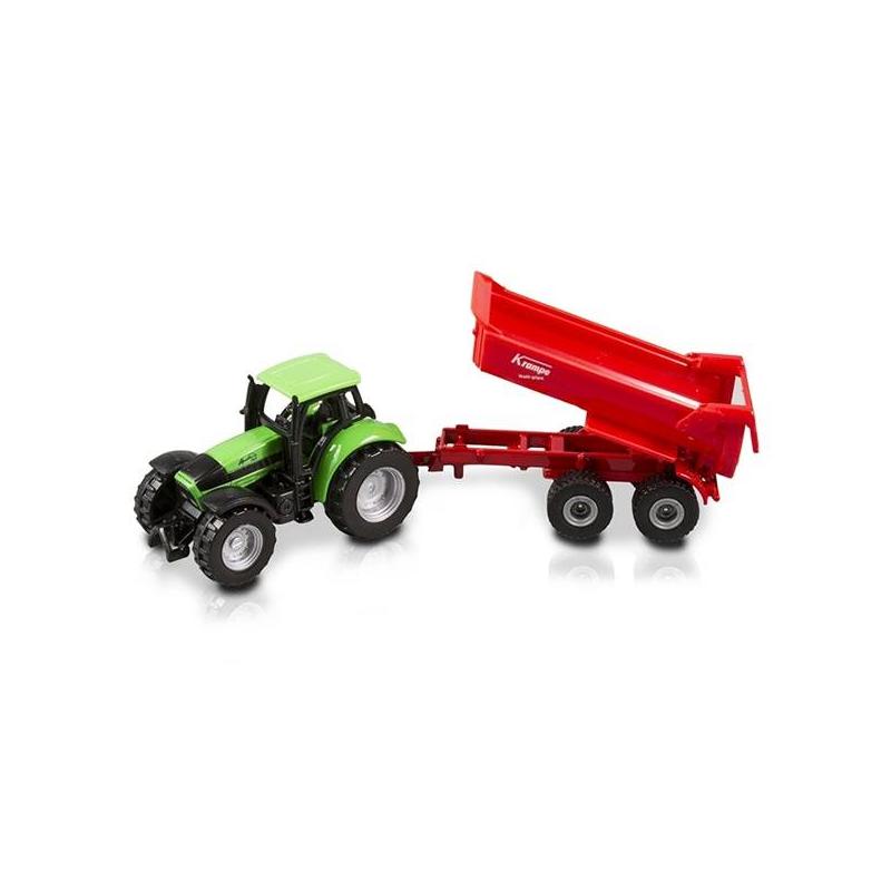 Трактор - SikuИгрушка марки Siku Трактор.<br>Детализированный трактор с откидывающимся кузовом в масштабе 1:50. Выпускается под немецкой торговой маркой SIKU.Трактор с отлично проработанными мелкими деталями. Кузов машины открепляется, прицеп можно отсоединить. Согласитесь, это делает игру с ним еще интереснее. Трактор подходит как для игры в доме, так и для игр на улице. Одновременно развлекает и помогает познавать окружающий мир. Малыш получает представление о формах и размерах. Кроме того, за игрой у ребенка развиваются: мелкая и крупная моторика, внимательность, координация, воображение.Части трактора сделаны из разных материалов: трактор – из металла, кабина трактора, ее колеса и кузов прицепа пластмассовые, колёса прицепа – резиновые.<br>Размер: 16,1 см х 3,6 см х 4,5 см.<br><br>Возраст от: 3 года<br>Пол: Для мальчика<br>Артикул: 634700<br>Бренд: Германия<br>Размер: от 3 лет