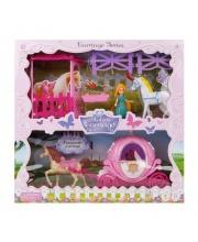 Карета, принц с принцессой в наборе Наша Игрушка