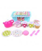 Набор посуды в корзинке с продуктами 12 предметов Наша Игрушка