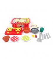 Набор посуды в корзинке с продуктами 15 предметов Наша Игрушка