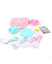 Набор посуды с продуктами 11 предметов Наша Игрушка