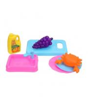 Набор посуды с продуктами 7 предметов Наша Игрушка