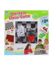 Шахматы, шашки, поле 38*38 см Наша Игрушка