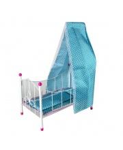 Кроватка для куклы с балдахином Жемчуг Наша Игрушка