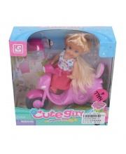 Куколка 9см на мотороллере Наша Игрушка