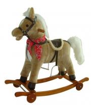 Лошадка-качалка на колесах 78 см Наша Игрушка