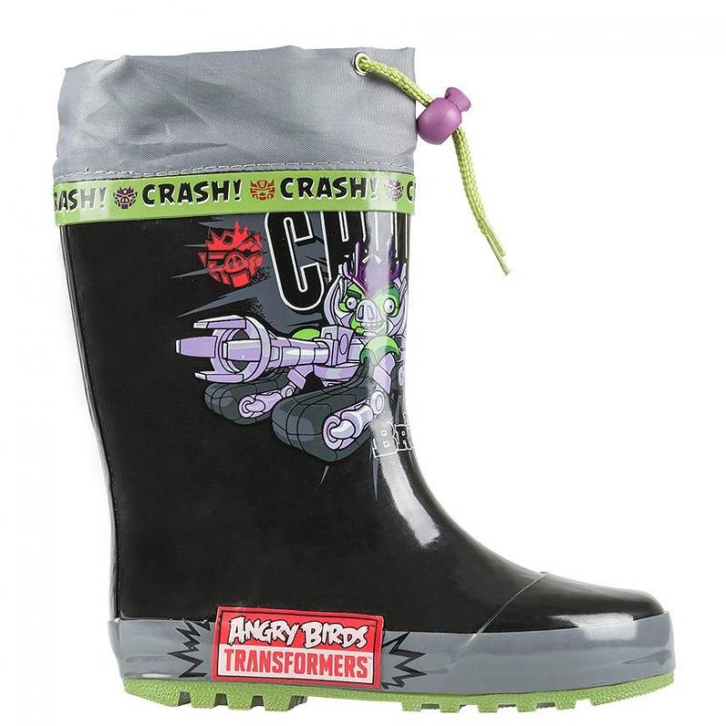 Резиновые сапогиРезиновые сапоги черного цветаAngry Birds-Transformers марки Kakadu для мальчиков.<br>Оригинальные резиновые сапоги для мальчиков. Модель украшена изображением в стиле Angry Birds - Transformers. Произведена обувь из качественной резины, подкладка - текстильная, делает обувь более мягкой внутри и позволяет ребенку чувствовать себя комфортно при ходьбе.Верх - на специальном шнурке, который можно затянуть для дополнительной защиты ноги ребенка от влаги.<br><br>Размер: 28<br>Цвет: Черный<br>Пол: Для мальчика<br>Артикул: 638759<br>Страна производитель: Китай<br>Сезон: Всесезонный<br>Материал верха: Резина<br>Материал подкладки: Текстиль<br>Материал подошвы: Резина<br>Лицензия: Angry birds