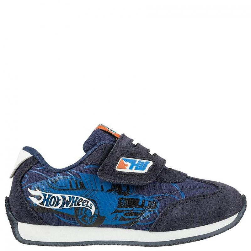 КроссовкиКроссовки синегоцвета с рисунком Hot Wheels марки Kakadu для мальчиков.<br>Кроссовки украшены изображением в стиле Hot Wheels - моделями спортивных машин, которые так нравятся мальчикам. Сделаны кроссовки из качественной искусственнойкожи с текстильными включениями, которые позволяют ноге дышать.Подошва - из очень легкого и прочного материала, который позволяет ребенку чувствовать себя комфортно при ходьбе.<br><br>Размер: 30<br>Цвет: Синий<br>Пол: Для мальчика<br>Артикул: 638828<br>Страна производитель: Китай<br>Сезон: Весна/Лето<br>Материал верха: Текстиль / Иск. кожа<br>Материал подкладки: Хлопчатобумажная<br>Материал подошвы: ЭВА (каучук)<br>Лицензия: Hot Wheels