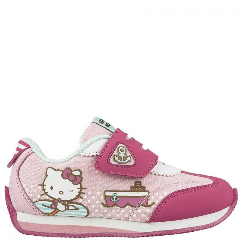 КроссовкиКроссовки розового цвета с рисунком Hello Kitty марки Kakadu для девочек.<br>Кроссовки с липучками для девочек дошкольного возраста. Модель украшена изображением Hello Kitty, которую обожают девочки. Основной цвет ботинок - розовый, принт - яркий, разноцветный. Подошва сделана из легкого и прочного материала. Подкладка сделана из хлопка, который позволяет ножке ребенка дышать и чувствовать себя комфортно при ходьбе.<br><br>Размер: 29<br>Цвет: Розовый<br>Пол: Для девочки<br>Артикул: 644597<br>Страна производитель: Китай<br>Сезон: Весна/Лето<br>Материал верха: Текстиль / Иск. кожа<br>Материал подкладки: Хлопчатобумажная<br>Материал подошвы: ЭВА (каучук)<br>Лицензия: Hello Kitty