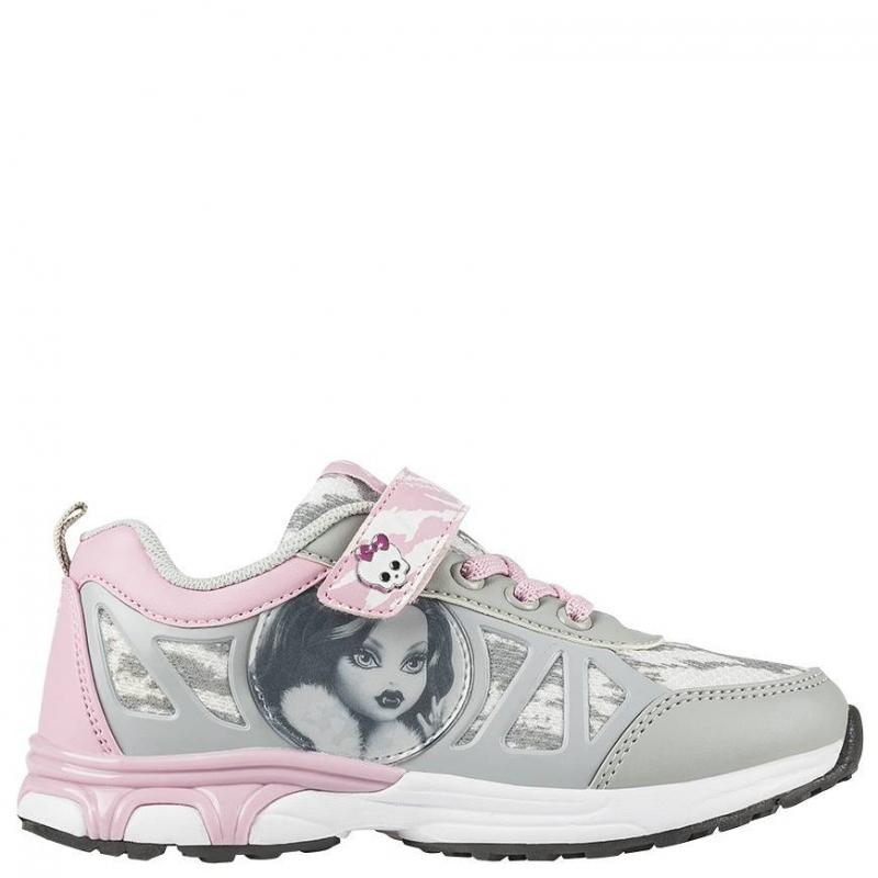 КроссовкиКроссовки серо-розовогоцвета с рисунком Monster High марки Kakadu для девочек. Кроссовки выполнены из качественной искусственной кожи, имеют прочную и гибкую подошву, застегиваются на липучку и шнуровку; декорированы текстильными вставками.<br>Оригинальнаярасцветка, стильный принт и вставки на модели – всё это очень понравится юным модницам.<br><br>Размер: 36<br>Цвет: Серый<br>Пол: Для девочки<br>Артикул: 638864<br>Страна производитель: Китай<br>Сезон: Весна/Лето<br>Материал верха: Текстиль / Иск. кожа<br>Материал подкладки: Текстиль<br>Материал подошвы: ЭВА (каучук) / ТПР (термопластичная резина)<br>Лицензия: Monster High
