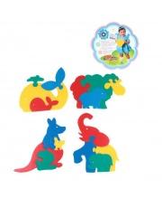 Мозаика Фигурки животных 4 шт в ассортименте Флексика
