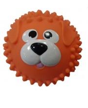Мяч массажный 8,5 см Собачка оранжевая ЯиГрушка