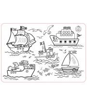Коврик-раскраска Кораблики