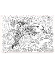 Коврик-раскраска Дельфин