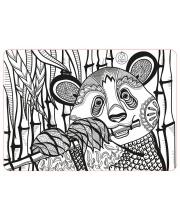 Коврик-раскраска Панда#