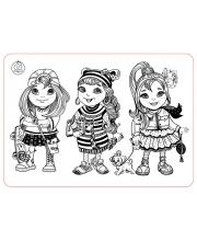 Коврик-раскраска Девочки-подружки ЯиГрушка