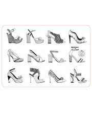 Коврик-раскраска Аксессуары для девочек. Обувь