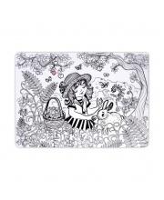 Коврик-раскраска Девочка в саду ЯиГрушка