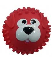 Мяч массажный 8,5 см Собачка красная ЯиГрушка