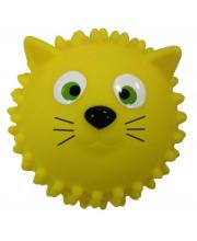 Мяч массажный 8,5 см Кошка желтая ЯиГрушка